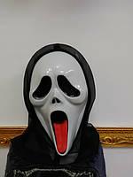 Маска карнавальная крик с резиновім языком