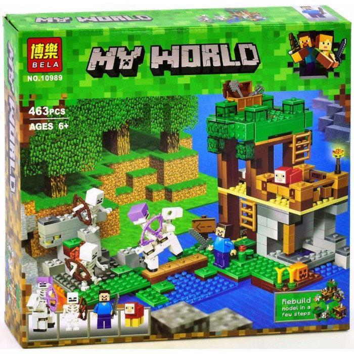 Конструктор Bela My World Minecraft Нападение армии скелетов 10989 463 детали