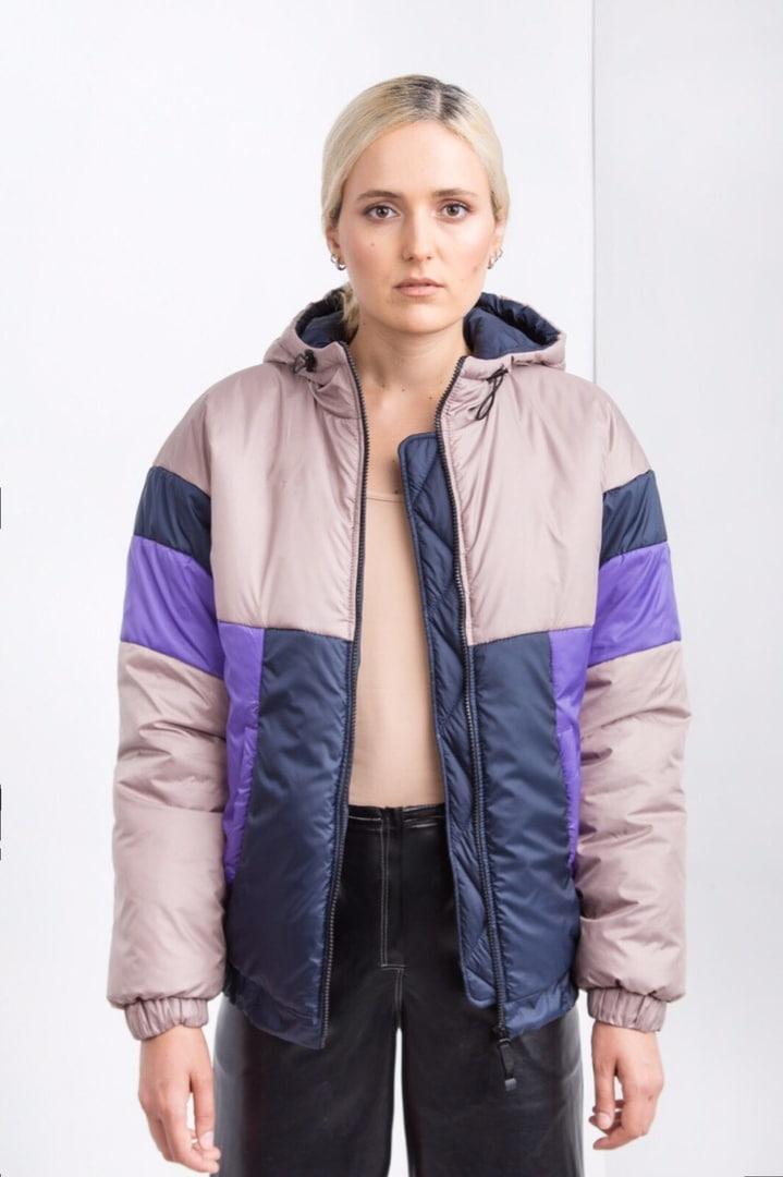 Видеообзор! Женская фиолетовая цветная куртка деми плащовка осень зима 2019-2020 Woman Jaket Violet S