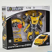 Траснформер машина Corvette, свет, звук RoadBot 50150