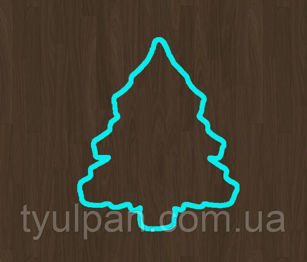 10 см Вырубка для пряника ель 1 елка новогодние вырубки