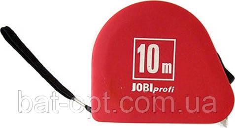 Рулетка измерительная Jobi 10м строительная, механическая, с фиксатором