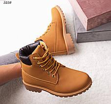 Ботинки женские эко нубук желтые, фото 2