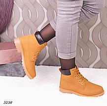 Ботинки женские эко нубук желтые, фото 3