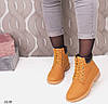 Ботинки женские эко нубук желтые, фото 6