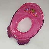 Туалетное сиденье для унитаза детское с антискользящими резинками Аква, Tega Baby (Польша)