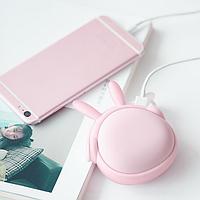 Портативный обогреватель USB грелка для рук Power Bank 6000 мАч 3DTOYSLAMP Музыкальный Кролик Розовый
