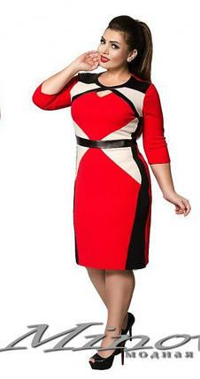 """Стильное женское платье """"ткань Креп-дайвинг"""" 42 размер норма, фото 2"""