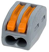Клемник з'єднувальний самозажимний 2 входи (0,75-2,5мм/32А) тип WAGO ACC-102 (СМК-412) АНАЛОГИ