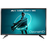 """☄Телевизор 39"""" OzoneHD HN82T2 разрешение 1366x768 px DVB-C DVB-T2 разъемы HDMI/USB встроенный медиаплеер"""