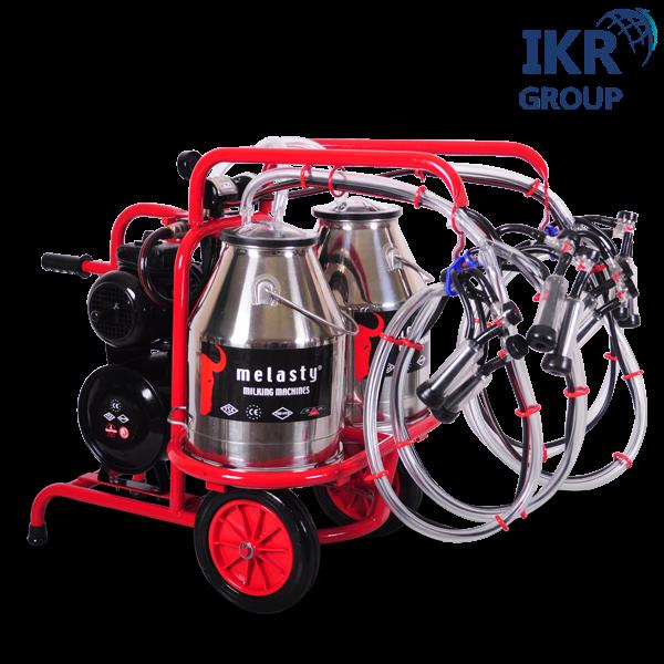Доїльний апарат для чотирьох кіз у два відра Melasty TKKC 4-2 PK