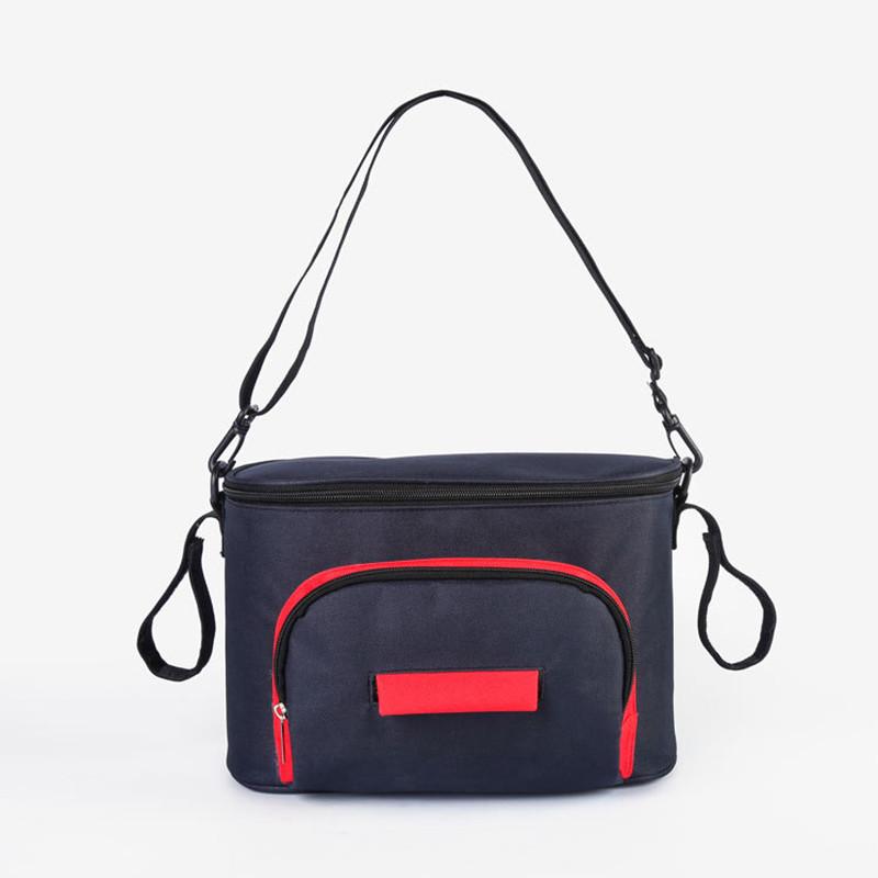 Универсальная сумка для коляски (черная) (24*11*15 см)
