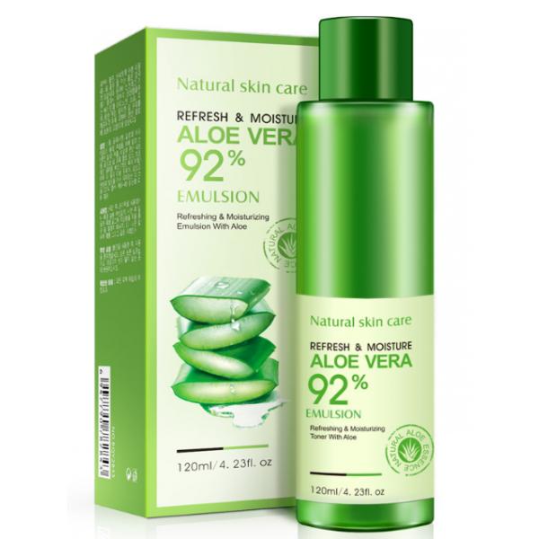 Восстанавливающая эмульсия для лица BioAqua Refresh&Moisture Emulsion Aloe Vera 92% 120 г