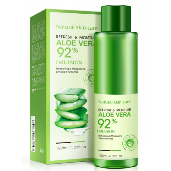 Восстанавливающая эмульсия для лица BioAqua Refresh&Moisture Emulsion Aloe Vera 92% 120 г, фото 2