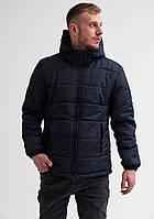 Куртка теплая мужская с капюшоном на флисе! Теплая зимняя повседневная курточка!