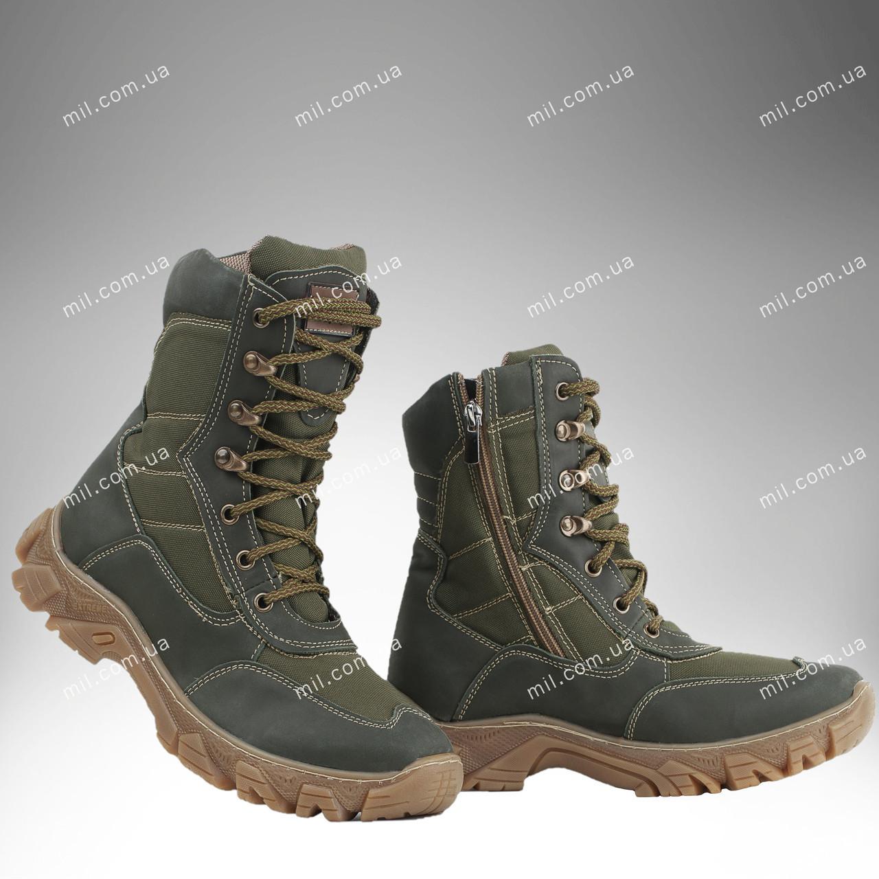 Берцы зимние / военная, тактическая обувь АЛЬФА (olive)