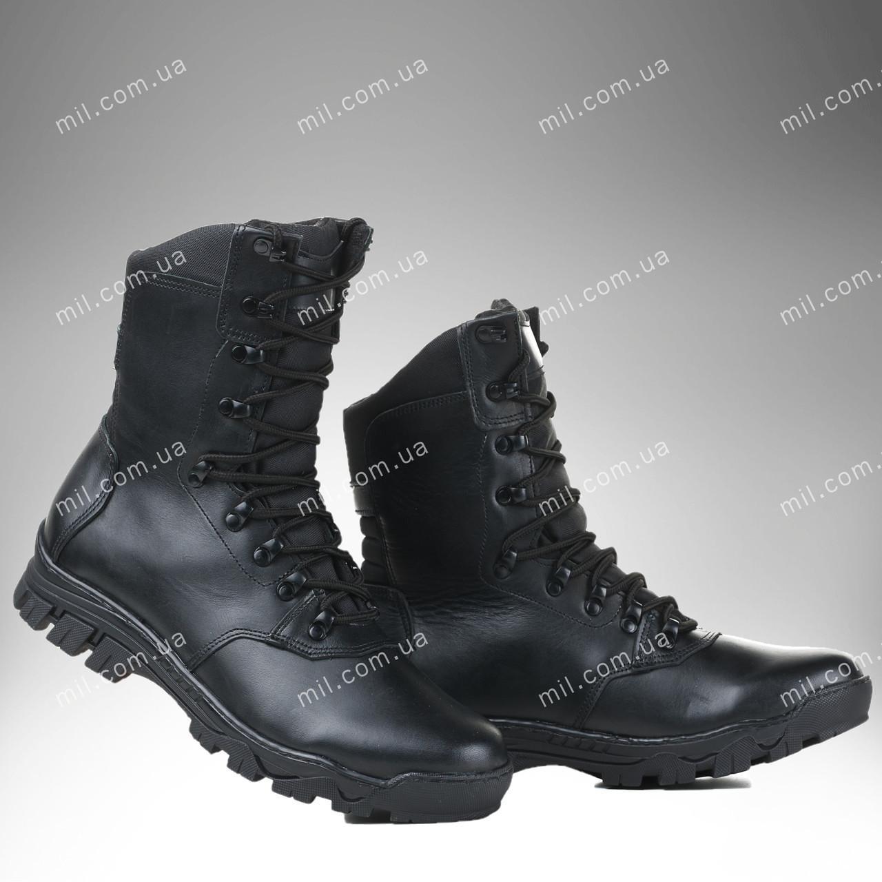 Берцы утепленные / военная, тактическая обувь МАГЕЛАН (black)