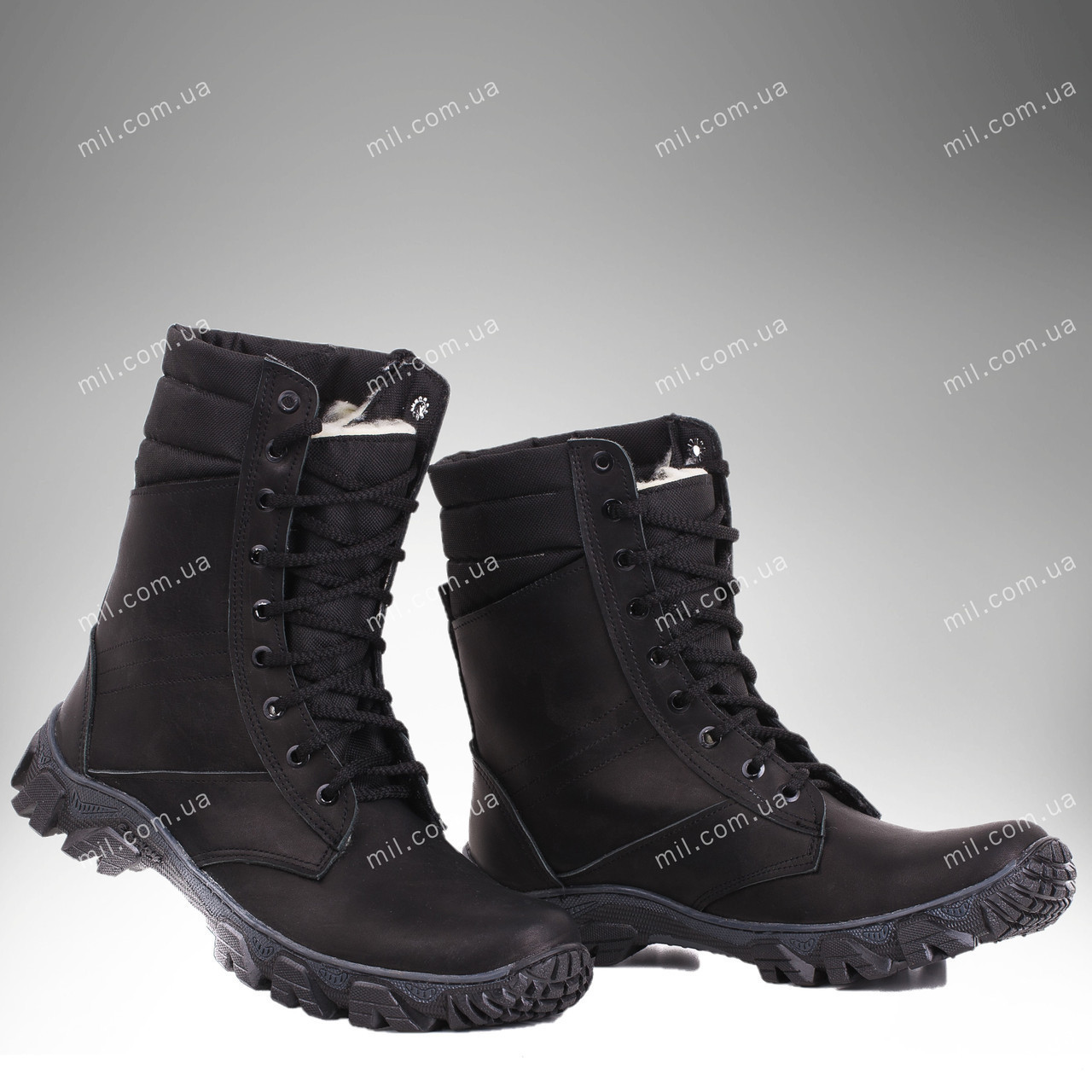 Берцы зимние / военная, рабочая обувь МИРАЖ II (black)