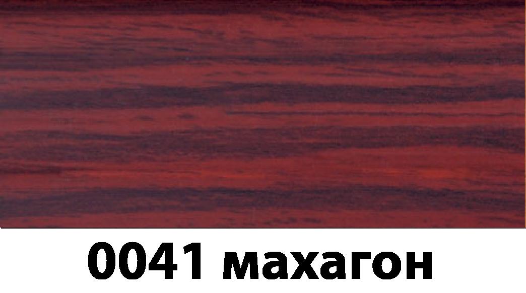 Плинтус с кабель каналом с прорезиненными краями 56х18мм 2,5м Тис махагон