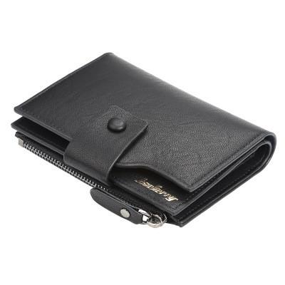 Мужской Кошелек Бумажник Baellerry (D1281) Маленький для Карточек с Монетницей Черный