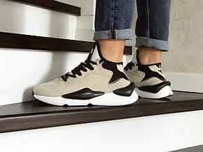 Кросівки чоловічі Adidas Y-3 Kaiwa,бежеві з чорним, фото 2