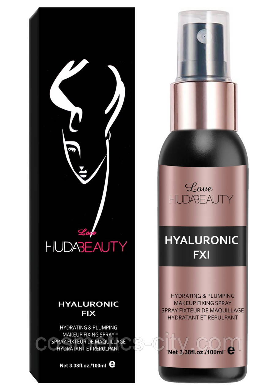 Спрей-фиксатор Huda Beauty Hyaluronic FIX Makeup fixing spray (без индивидуальной упаковки)