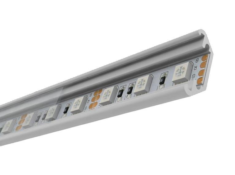 Профиль алюм. для LED ленты накладной 21х7.5