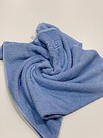 Махровое банное полотенце Mahrof store 70х140 см голубое