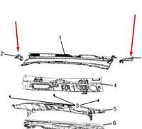 Оригинальные боковые части обтекателя Jeep Compass