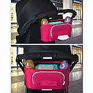 Универсальная сумка для коляски (розовая) 32х15х16(см), фото 2