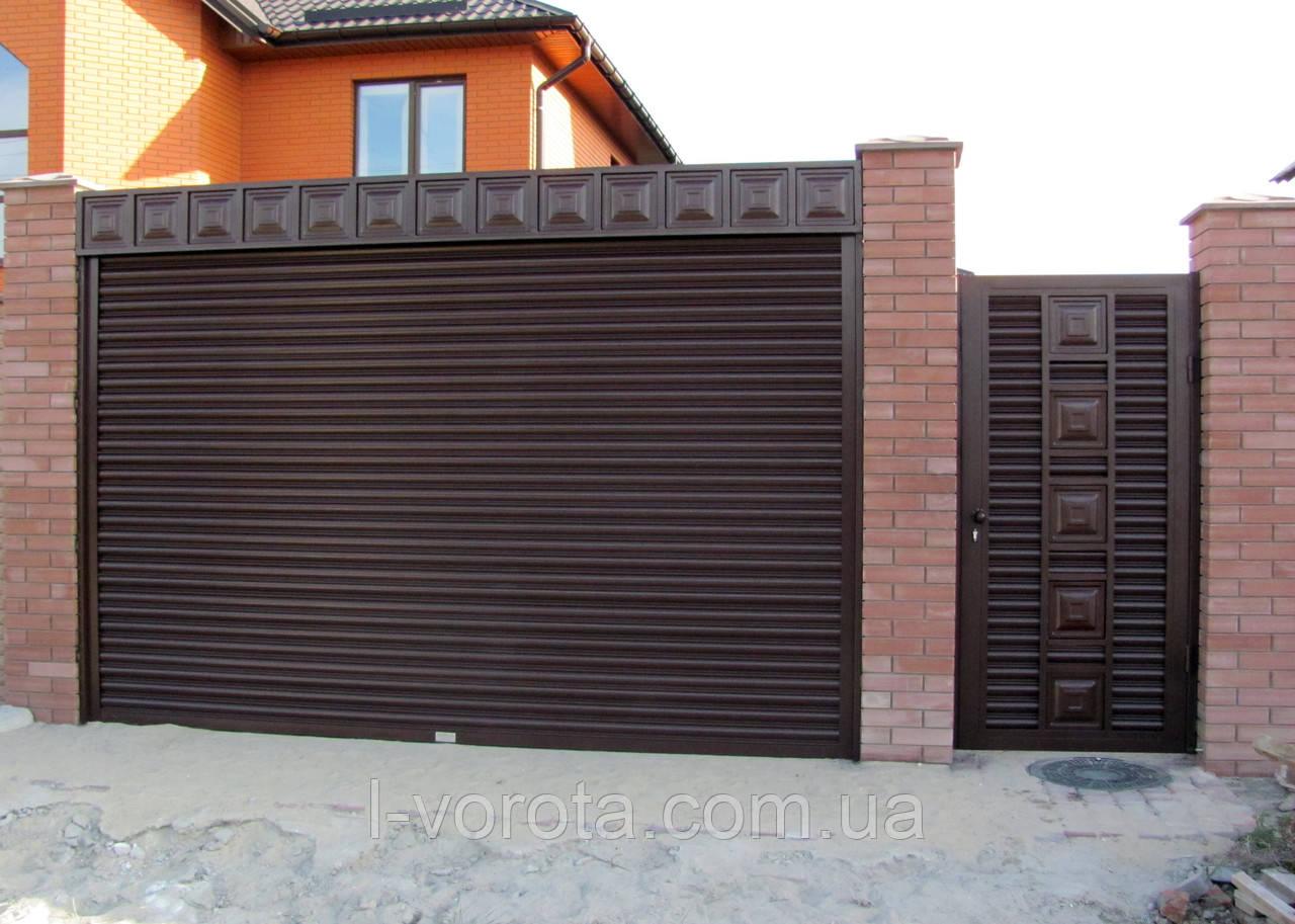 Рулонные ворота (стальной профиль 76) ТМ HARDWICK ш3500, в2100