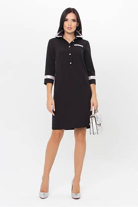 Стильное черное платье поло, фото 3