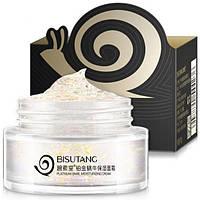 Увлажняющий крем-гель для лица Bisutang с частичками золота, муцином улитки и комплексом растительных экстрактов 50 г