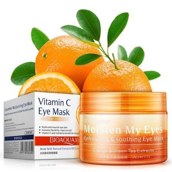 Успокаивающие освежающие патчи для глаз BIOAQUA с экстрактом апельсина и гинкго билоба 36 шт, фото 2
