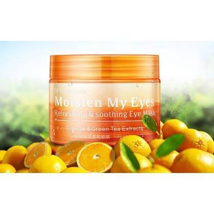 Успокаивающие освежающие патчи для глаз BIOAQUA с экстрактом апельсина и гинкго билоба 36 шт, фото 3