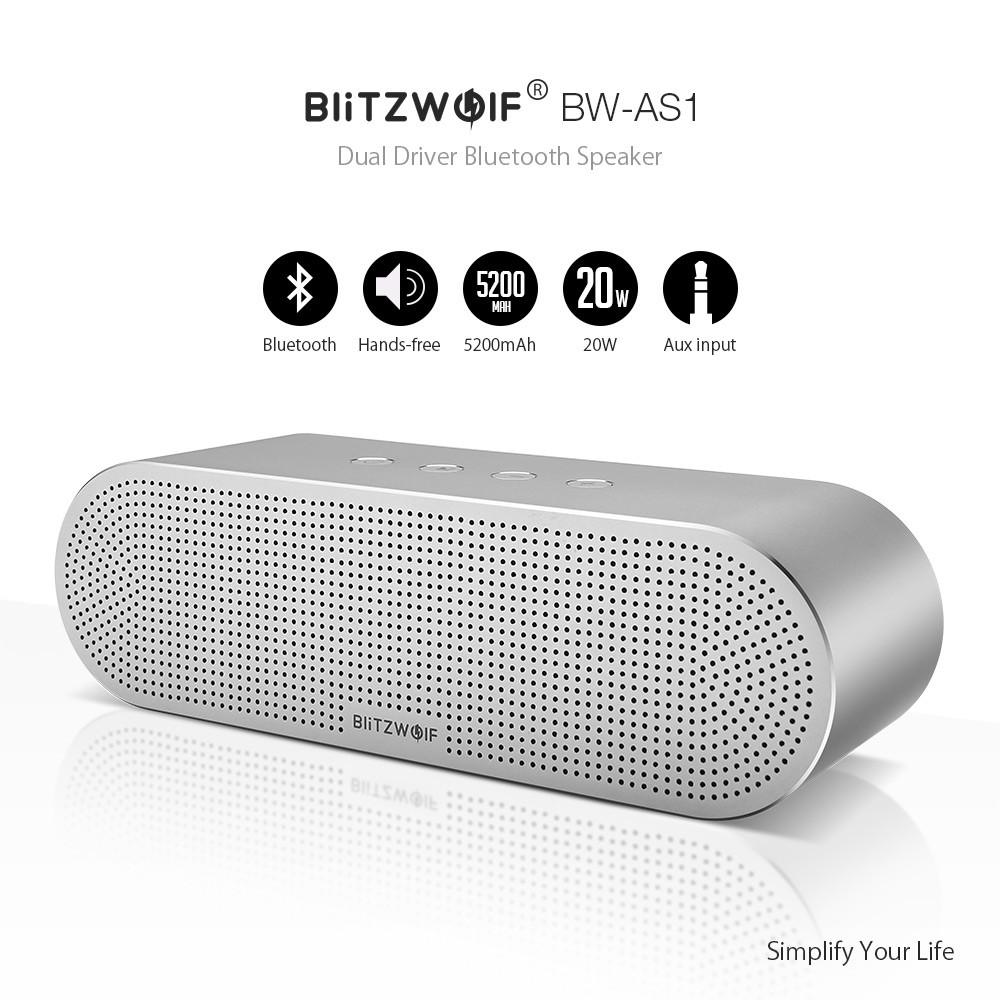 Портативная колонка BlitzWolf BW-AS1 20W Блютуз акустика, колонка, акустика Tronsmart, JBL, Sony, Harman