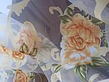 Тюль до подоконника Розы оранжевые, фото 3