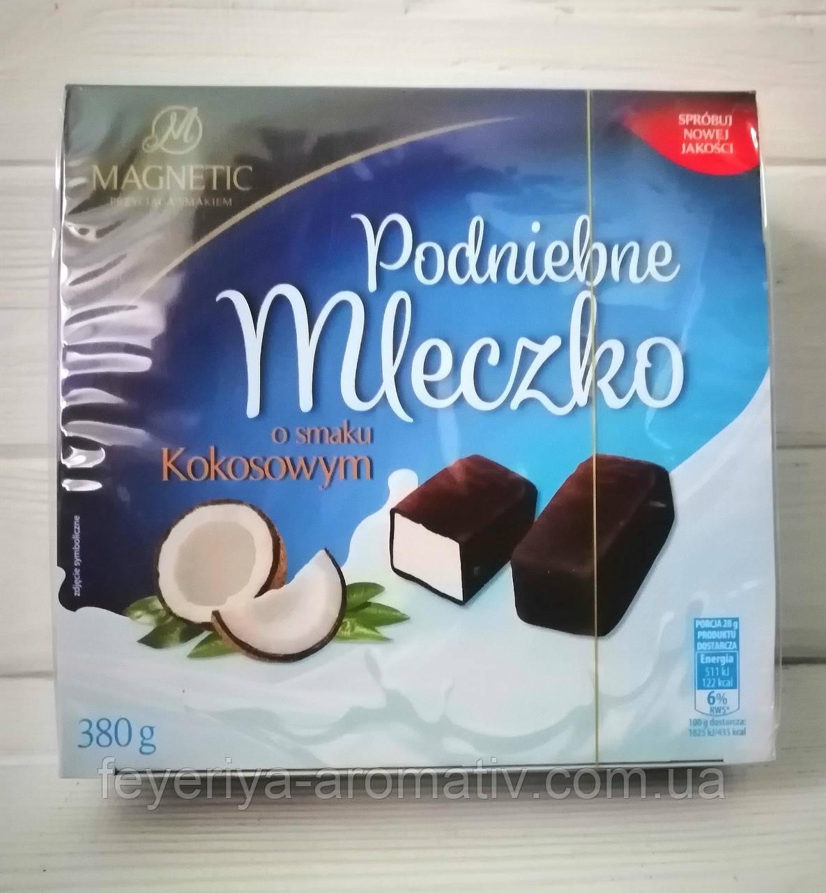 Конфеты птичье молоко Magnetic Padniebne mleczko с кокосом 380гр (Польша)