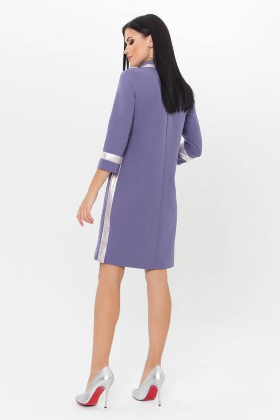 Стильное платье поло сиреневое, фото 2