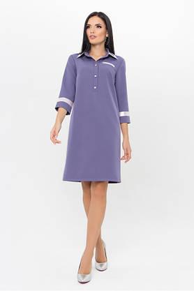 Стильное платье поло сиреневое, фото 3
