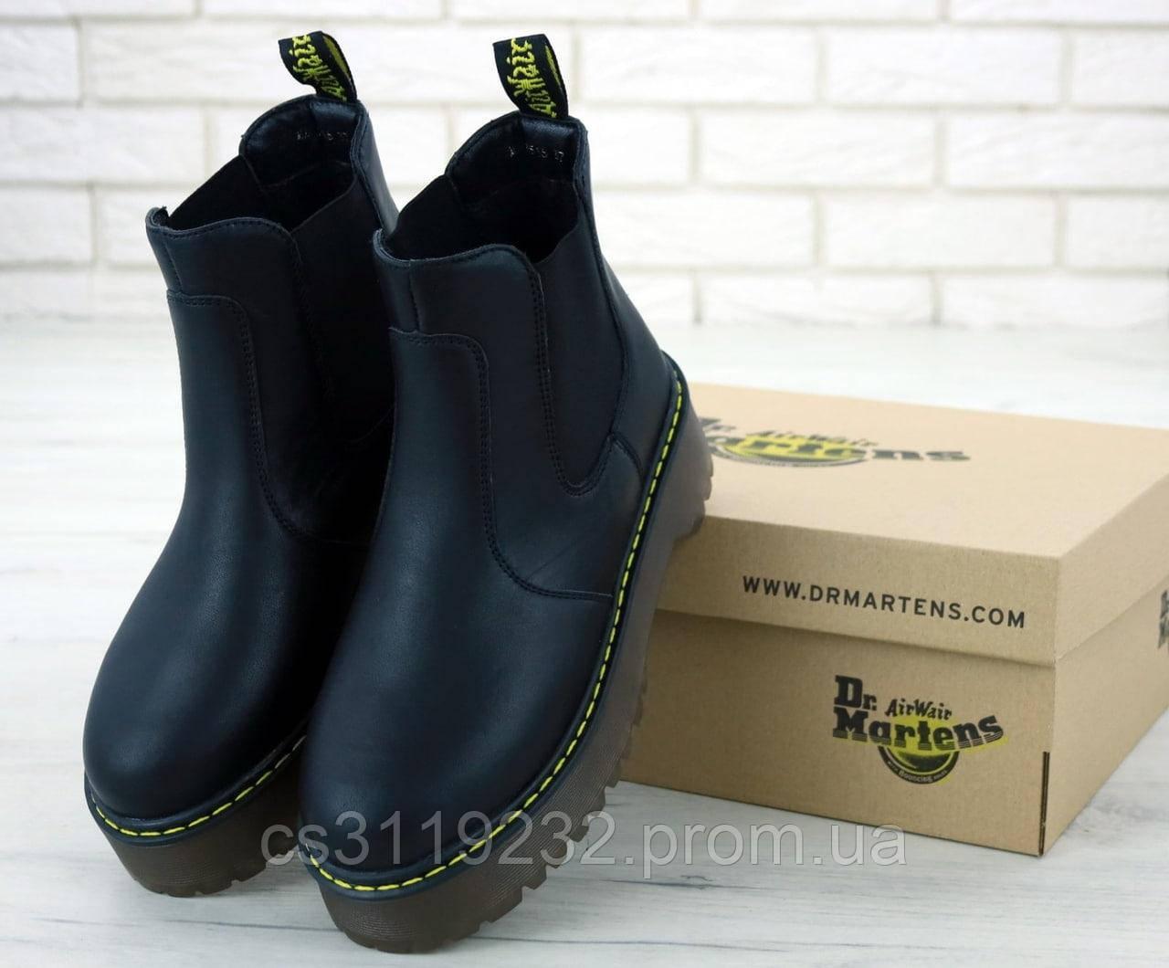 Женские ботинки Dr.Martens Platform Chelsea демисезонные (черный)