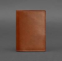 Обложка для паспорта из кожи 1.2 (светло-коричневая), фото 1
