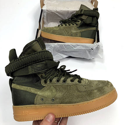 """Кроссовки Nike Air Force 1 High Special Field SF 1 """"Green"""" (Зеленые), фото 2"""
