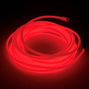 Холодный LED Неон Гибкий 3м Красный
