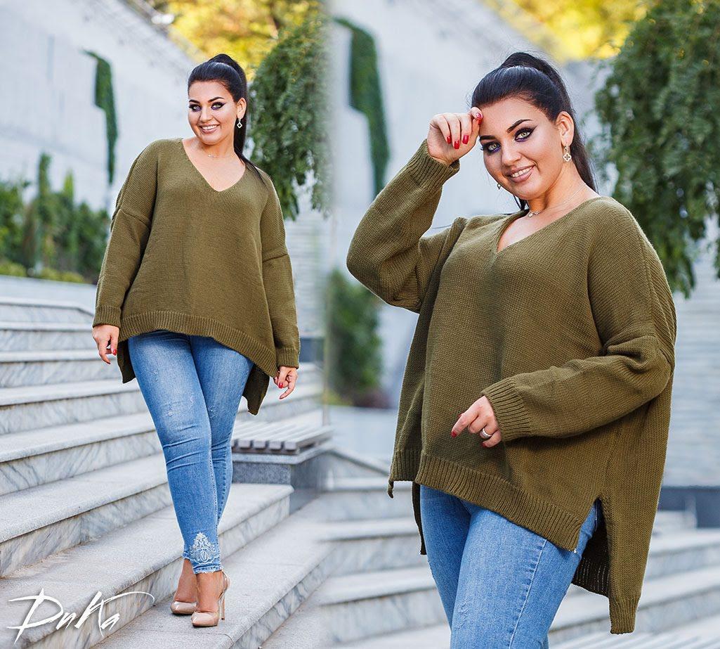Женский модный свитер  ДГс882