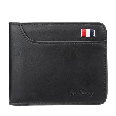 Мужской Кошелек Бумажник Baellerry France Mini (D9152) Маленький для Карточек Черный