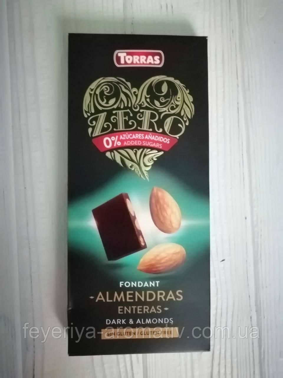 Шоколад без сахара и глютена Torras Dark & Almonds 150гр (Испания)
