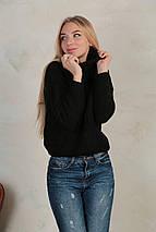"""Женский вязаный свитер под горло""""Soft"""", фото 2"""
