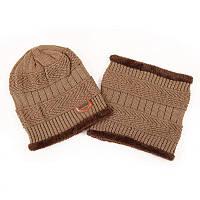 Мужская шапка и шарф СС-7926-76