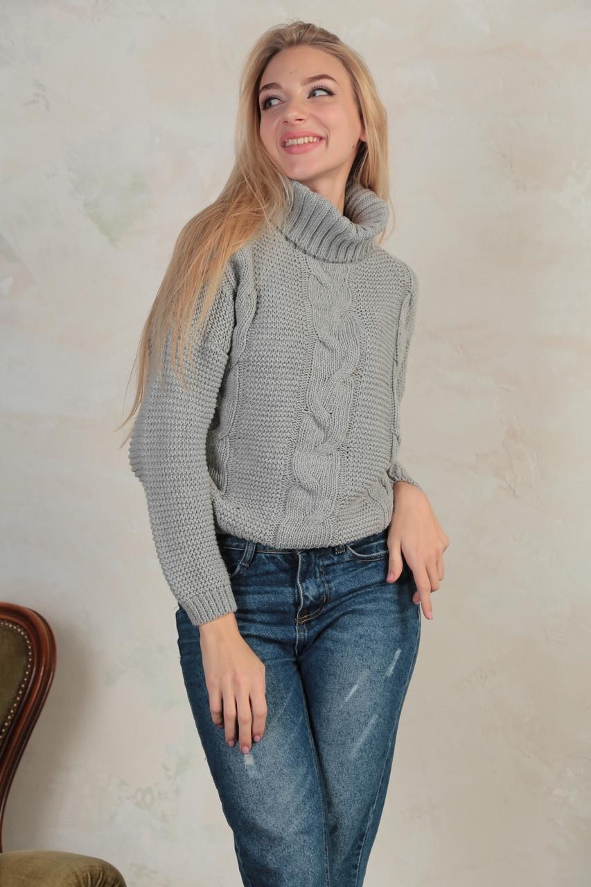 """Женский вязаный свитер под горло""""Soft"""""""